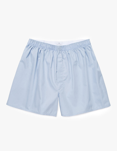 Sunspel Classic Boxer Short - Light Blue Stripe