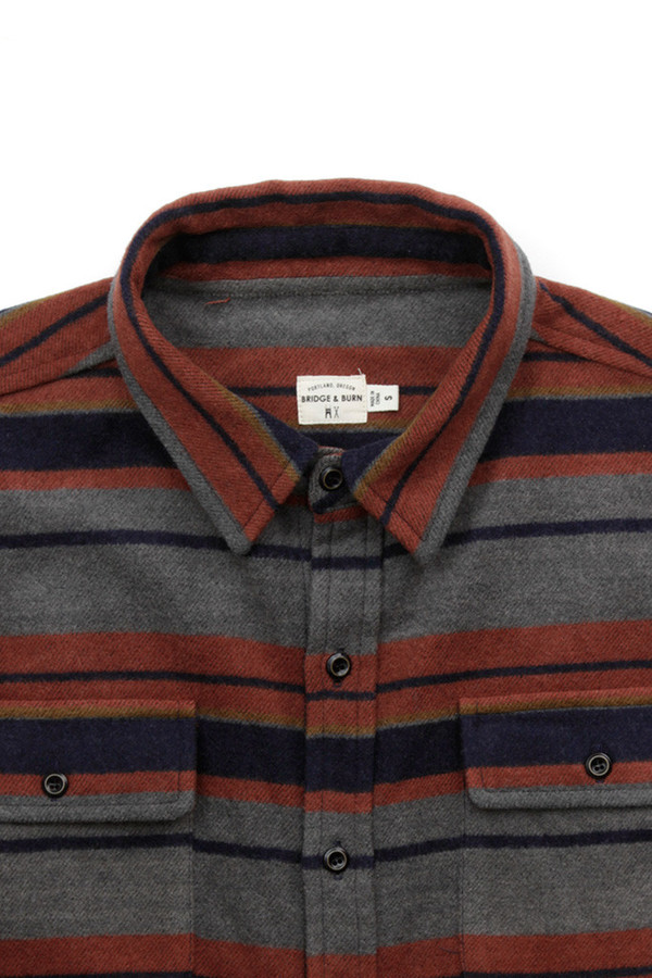 Men's Bridge & Burn Bedford Wool Grey Stripe