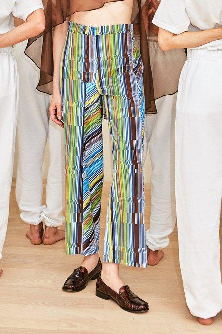 Collina Strada Striped Cord Left Eye Trouser