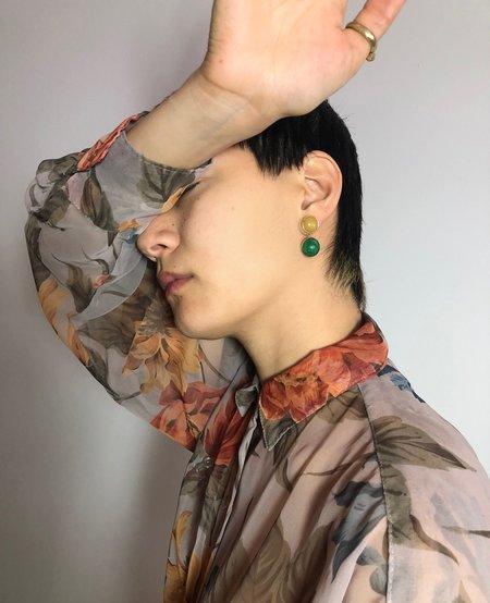 Ora-C Dyptic Earrings - Brass