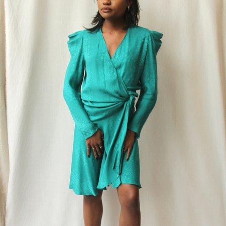 Vintage Nora Noh Wrap Dress - Teal