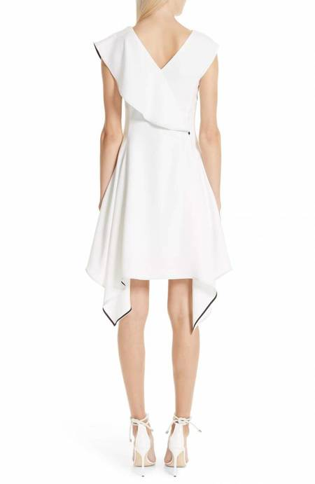 Adeam Deconstructed Ruffle Dress - WHITE