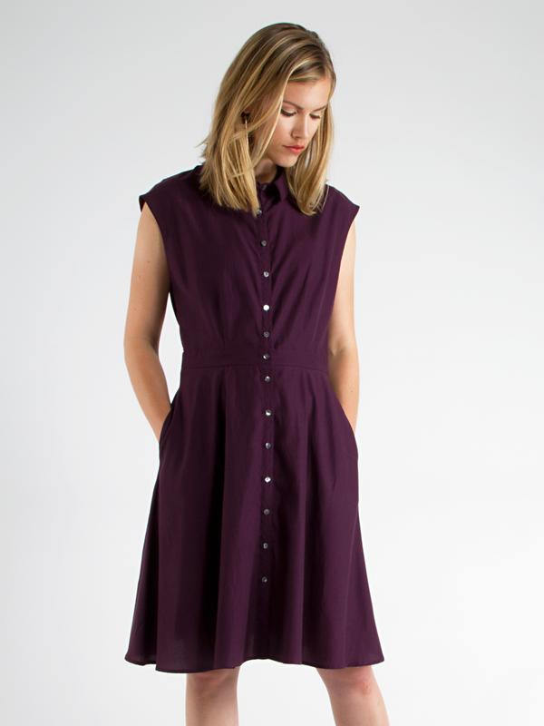 swords-smith Aubergine Shirtdress