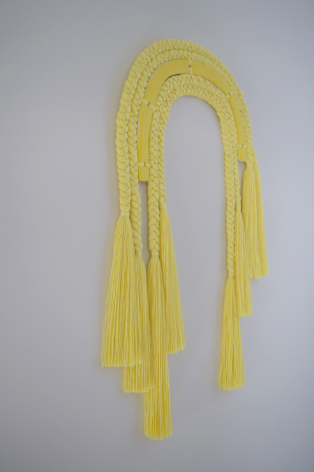 Karen Gayle Tinney One of a Kind Wall Hanging #543 - yellow