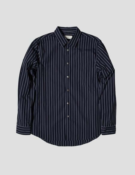 Kapatid NYC Pocket Shirt - Navy/Grey Stripe