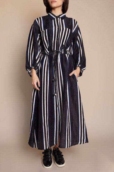Apiece Apart Kimono Shirt Dress - Prado Stripe