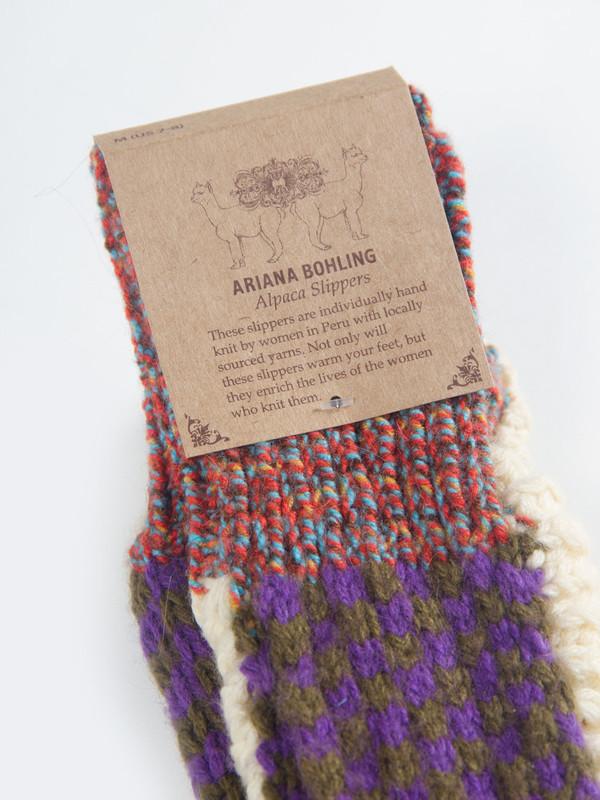Ariana Bohling Berkley Alpaca Slipper Purple