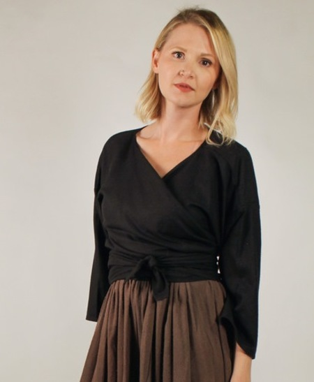 Miranda Bennett Wrap Top - Black