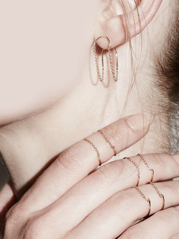 Sarah & Sebastian Chain Ellipse Ring