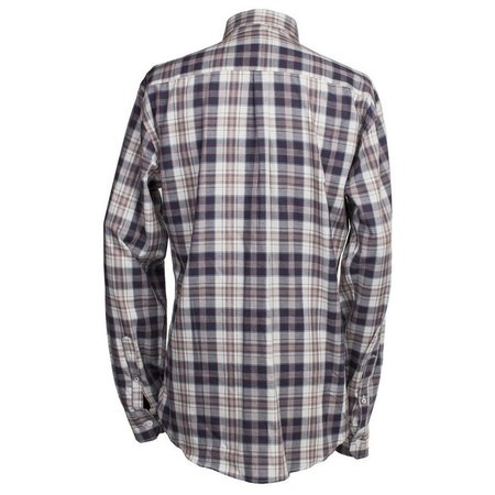 Burrows and Hare Longsleeve Shirt - White Check