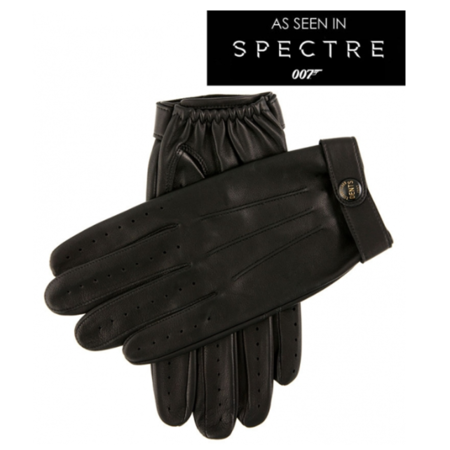 DENTS Fleming James Bond Spectre Leather Driving Gloves - Black