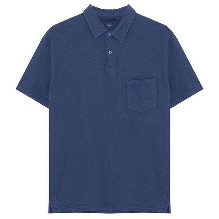 Hartford Soft Cotton/Linen Jersey Polo Shirt - Navy