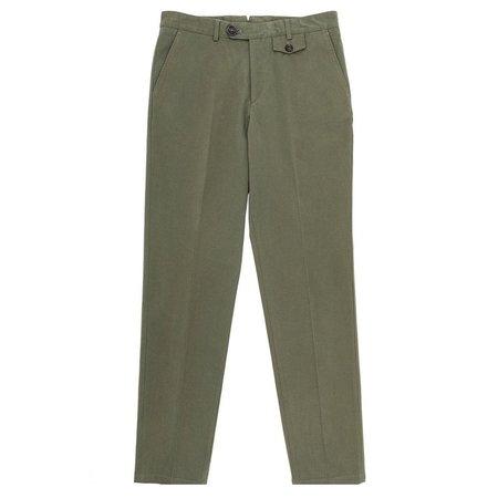 6c77f077ebe ... Oliver Spencer Cheviot Fishtail Trouser - Green