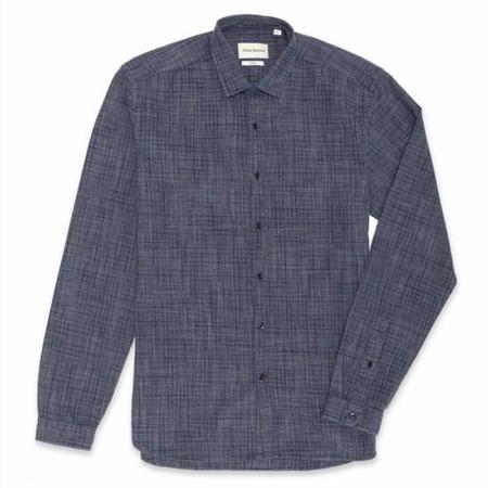 Oliver Spencer Clerkenwell Tab Shirt - Indigo Multi