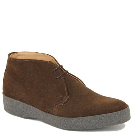 Sanders Suede & Crepe Sole English Made Chukka Boots - BROWN