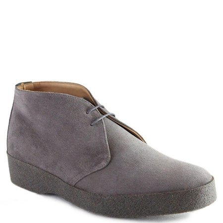 Sanders Suede & Crepe Sole English Made Chukka Boots - GREY