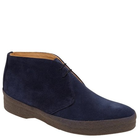 Sanders Suede & Crepe Sole English Made Chukka Boots - NAVY