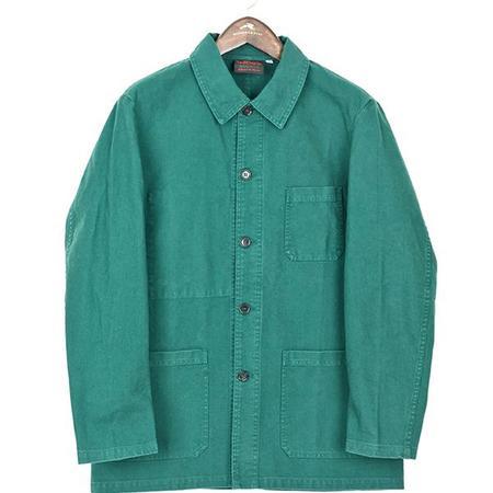 Vetra Cotton Twill Workwear Jacket - Bottle Green