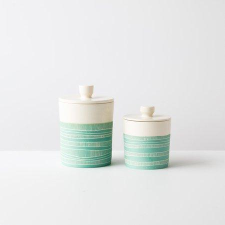 Cam & Céramique Modern Semi-Porcelain Jar - Turquoise