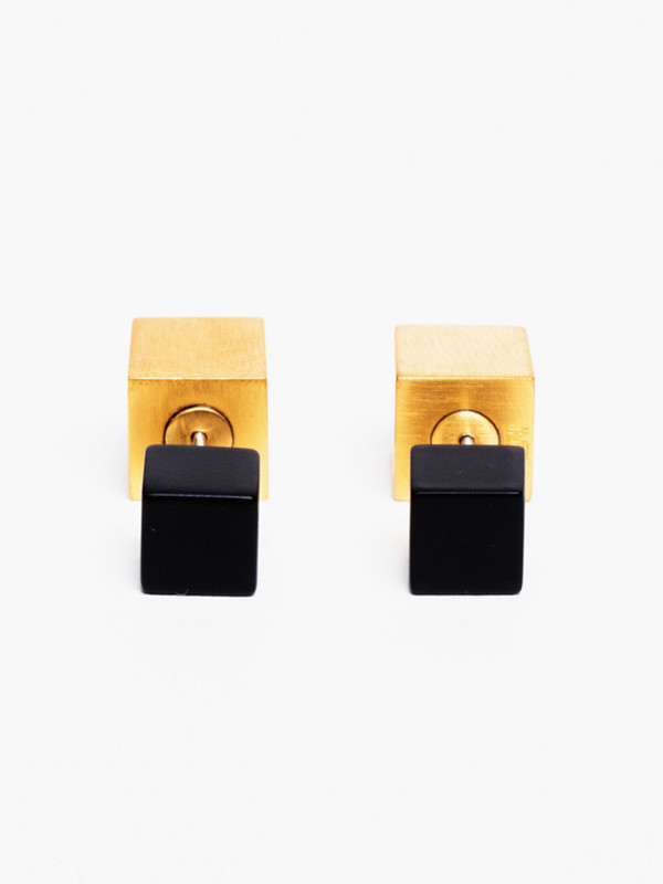 Ming Yu Wang Eclipse Earring Black