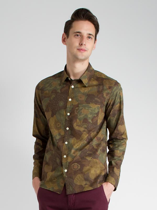 Men's swords-smith Floral Camo Shirt