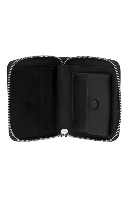 AMI Leather Zip Wallet