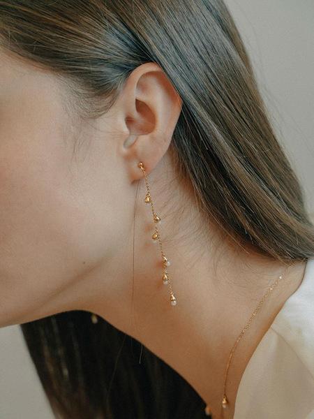 FIORE Pearl Bell Drop Earring