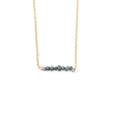 Backtalk PDX Blue Diamond Bar Necklace