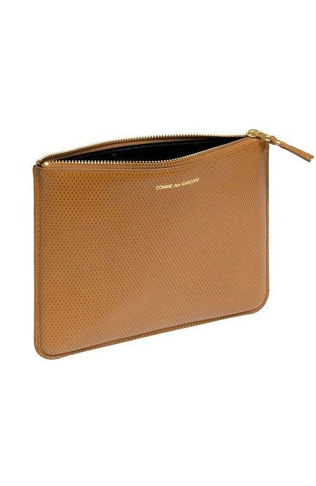 Comme des Garçons Luxury Leather Zip Pouch