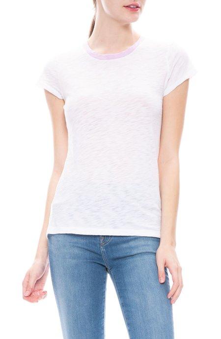 Goldies Ringer T-Shirt - White/Wisteria