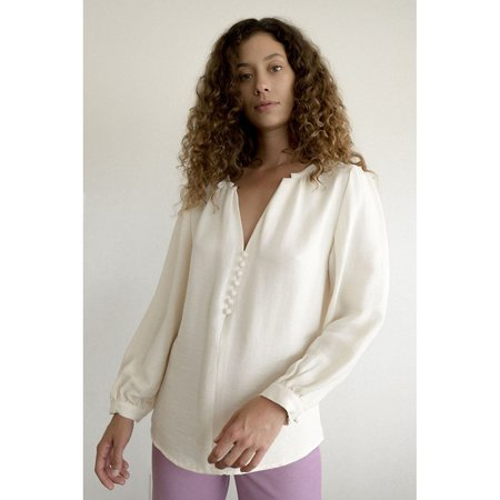 Maria Stanley Almond Blouse - Bone
