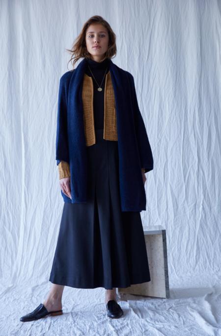 Atelier Delphine Haori Alpaca Coat - Navy