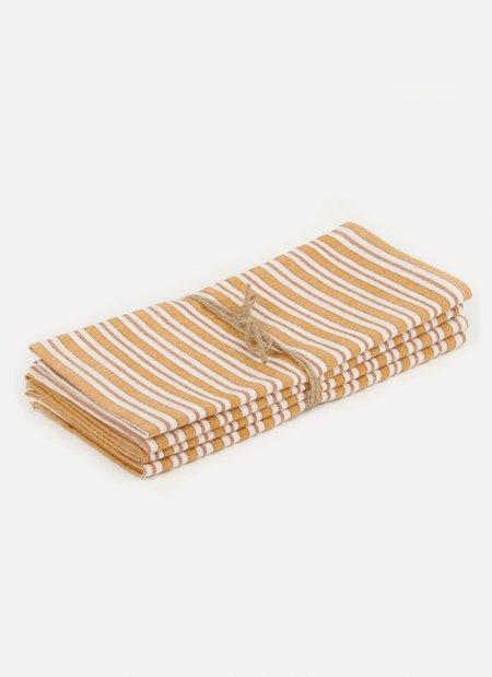 Heather Taylor Home Goldenrod Napkin Set - Multi Stripe