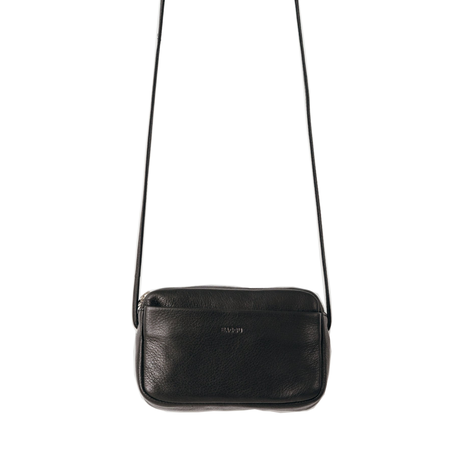 BAGGU Mini Leather Purse - black