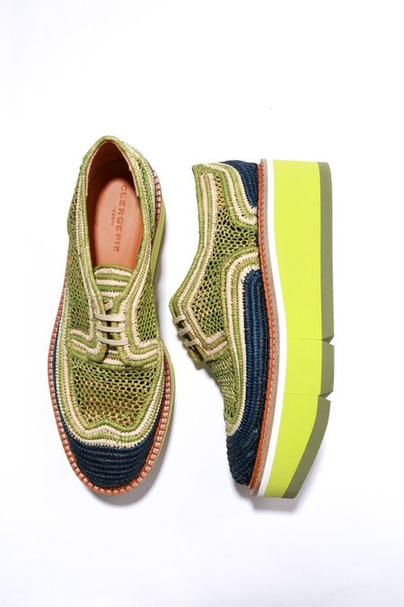Robert Clergerie Acajou Platform Loafers - Green