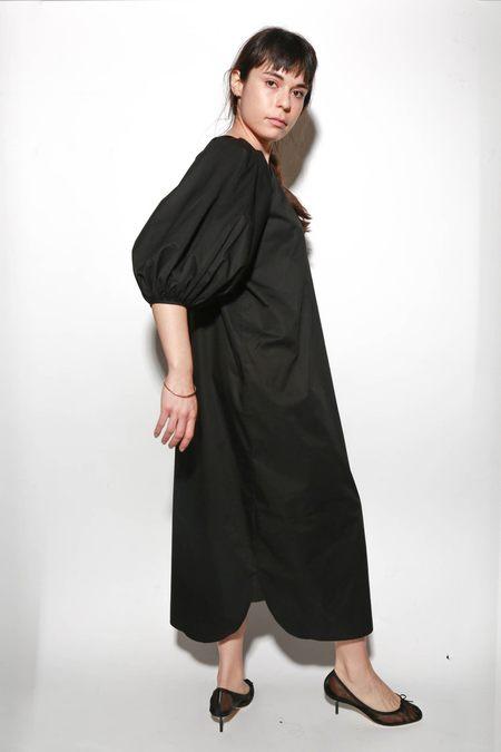 ARCH THE Balloon Sleeve Dress - Black