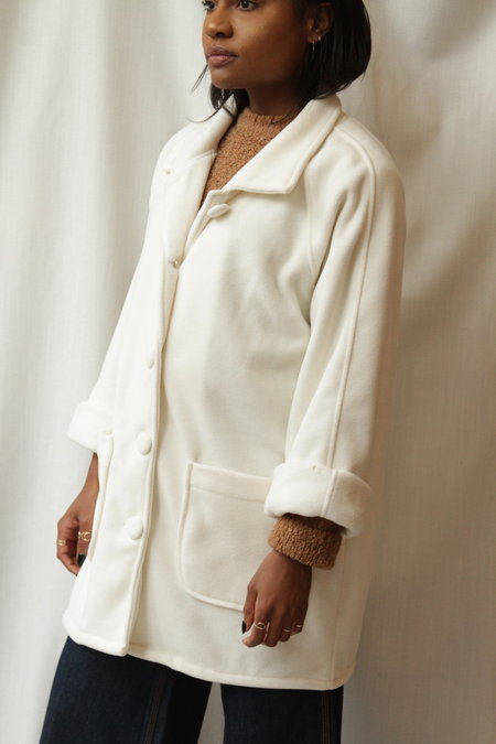 Blair Vintage Fleece Chore Coat - White