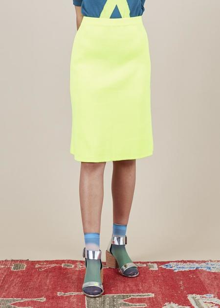 Sartoria Vico Knit A-Line Skirt - bright yellow