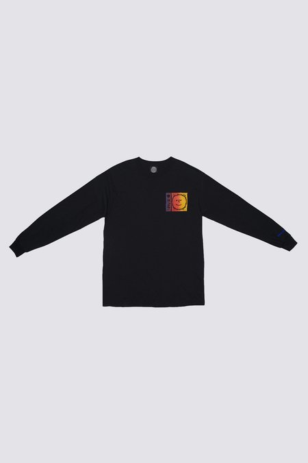 Unisex Silent Sound Long Sleeve B Thom Sunset T-shirt - Black
