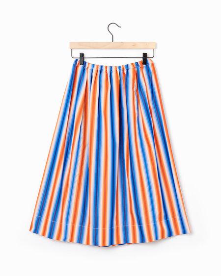 Marni Striped Midi-Skirt - MULTI