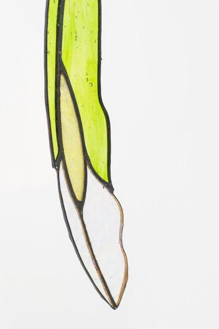 Colin Adrian Glass Diamond Eye Feather