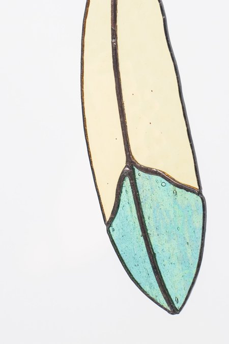 Colin Adrian Stained Glass Classic Feather