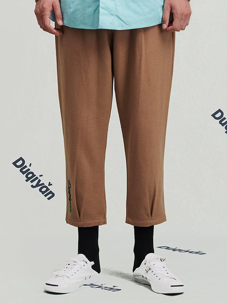 Duqiyan Youqian Series Casual Pants - Yellow