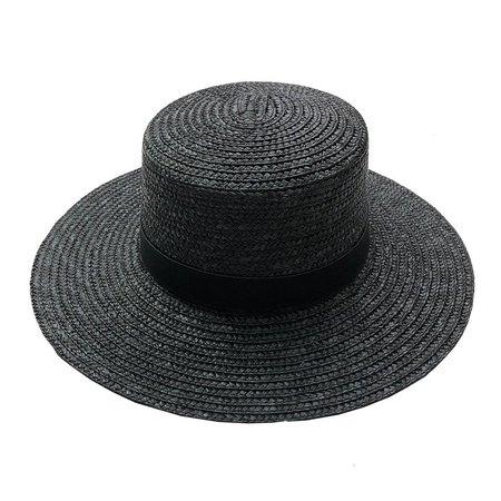 Wyeth Aubrey Wide Brim Hat - BLACK