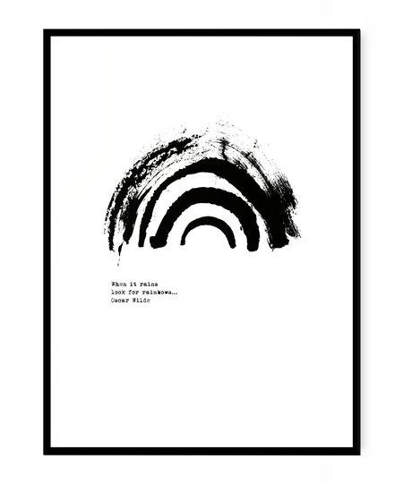 PETEK DESIGN Oscar Wilde Rainbow Print