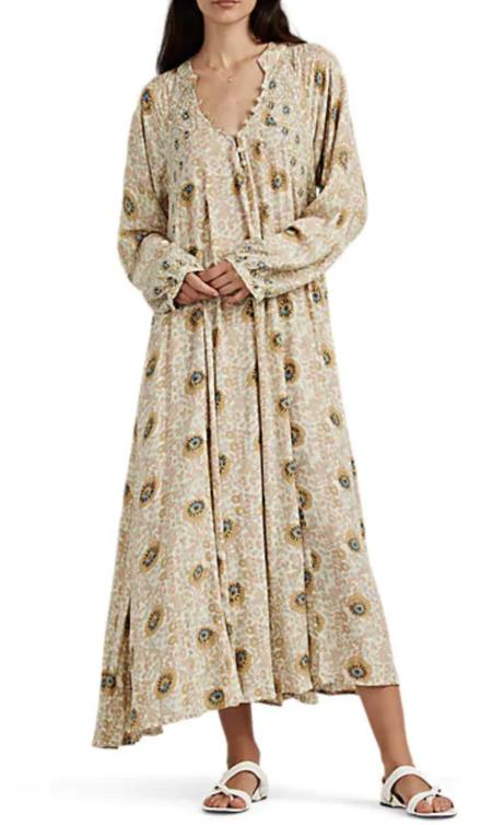Natalie Martin Fiore Maxi dress - Vintage Flowers Sand