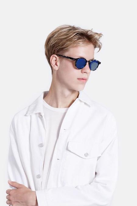UNISEX RetroSuperFuture The Iconic Blue Mirror eyewear