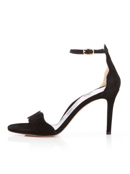 MARION PARKE Fiona Ankle Strap 85mm Stiletto Sandal - Black