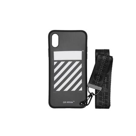Off-White iPhone X Diag Strap Case - Black
