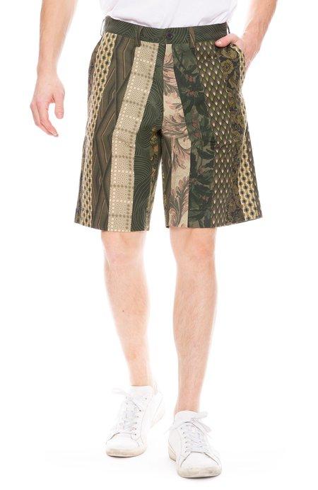 Dries Van Noten Block Fabric Short - Khaki